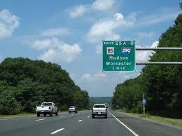 Mass Pike Exits Map Interstate Guide Interstate 290 Massachusetts