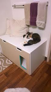 Ikea Litter Box Cabinet Ikea Hack Stuva Storage Bench To A Hideaway Litter Box Diy Pet