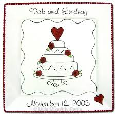 personalized wedding plate gift 94 best pottery painting wedding gifts images on