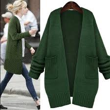 2017 green knitted sweaters fashion