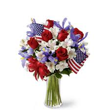 white and blue floral arrangements 4th of july flowers independence day flowers sendflowers
