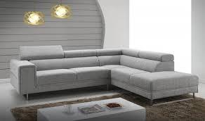 canapé design d angle canapé d angle avec appui tête en tissu gris clair