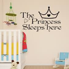 compare prices on wall sticker princess quote online shopping buy home wall art the princess sleeps here wall decals art quote kids bedroom wallpaper wall sticker