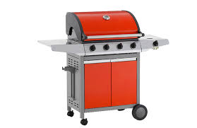 arcobelle bbq 4 burner bbq with side burner on cart