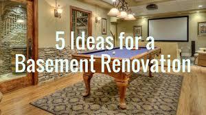 Basement Renovation - 5 ideas for your basement renovation