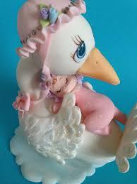 stork cake topper stork cake topper decoration baby shower by michellcustomdesigns