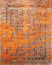 Modern Silk Rugs Rugsville Tibetan Gold Silk 13143 Rug Rugsville Co Uk