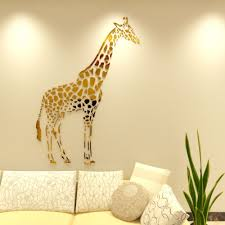 online get cheap mirror wall stickers color aliexpress com new arrival 3d acrylic wall stickers living room giraffe mirror wall sticker children s room bedroom abstract