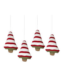 gingerbread knitted tree ornaments treetopia