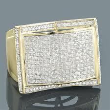 mens gold diamond rings mens diamond rings 10k gold diamond ring 1 22ct