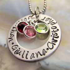 mothers necklace with names mothers necklace etsy