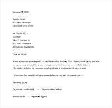 ideas of free sample thank you letter after phone interview with