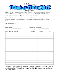 Pledge Sheets For Fundraising Template by 7 Sle Pledge Form Postal Carrier