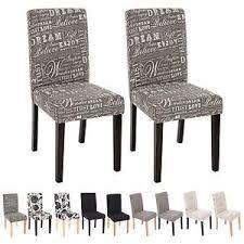 sedie per sala da pranzo set 4x sedie littau tessuto per sala da pranzo 43x56x90cm ebay