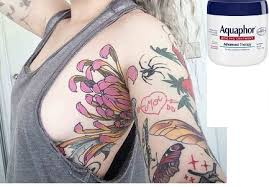 aquaphor or vaseline for tattoos