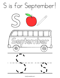 September Coloring Pages Twisty Noodle Coloring Pages For September