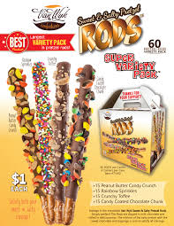 wholesale pretzel rods 1 variety pack sweet salty pretzel rods wyk confections