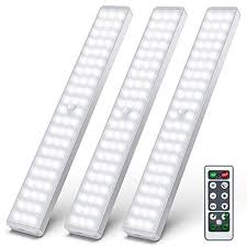 best wireless cabinet lighting motion sensor led closet light 62 led motion sensor cabinet lights with remote wireless rechargeable safe lights bar stick on anywhere for counter