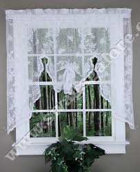 Lace Valance Curtains Crushed Lace Curtain Swagger White By Lorraine Home