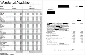 Catering Spreadsheet The Official Newsletter For Wonderful Machine Photographers Wm