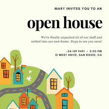 open house invitations open house invitation templates canva