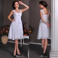 cheap informal short wedding dresses sleeves free shipping