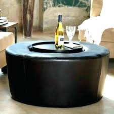 Ottoman Storage Coffee Table Fancy Brown Leather Ottoman With Storage Taptotrip Me