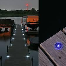 solar dock lights lake lite solar dock dots with white led s recessed solar dock