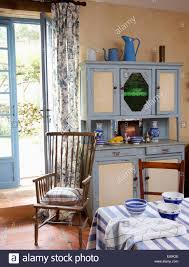 blue u0026 white fifties dresser in country kitchen dining room with
