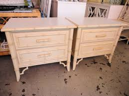 pair faux bamboo nightstands circa who
