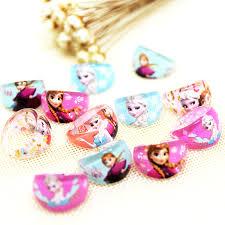 23kind jewelry 50pcs cartoon elsa paw kids rapunzel sofia princess