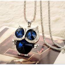 crystal owl pendant necklace images Crystal owl pendant standout for women zinc alloy link jpeg