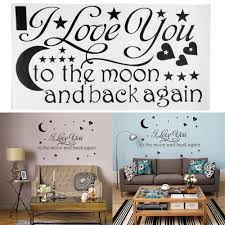 compare prices on love sayings online shopping buy low price love hot sale 2015 wall sticker i love you to the moon and back again star heart