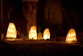 decorations white ghost pathway outdoor lights the last minute