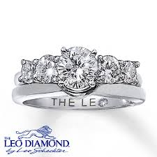 Kay Jewelers Wedding Rings Sets by Leo Diamond Enhancer Ring 3 4 Ct Tw Round Cut 14k White Gold Leo