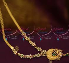 gold colour chain necklace images Nl10006 multi colour semi precious stones gold plated casting JPG