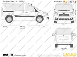peugeot expert 2015 the blueprints com vector drawing peugeot expert l1h1