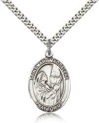 catholic necklace magdalene pewter patron catholic necklace by bliss