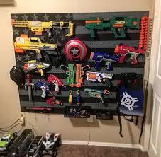 American flag Nerf gun rack Wood work Pinterest