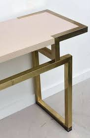 Mid Century Console Table Italian Mid Century Brass Console Table And Mirror Dlightus