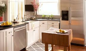 kitchen ideas for a small kitchen attractive small kitchen ideas with island space bhg for