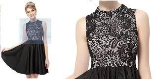 black white semi formal dresses new fashion style