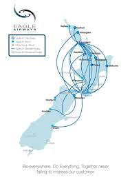 Virgin America Route Map New Zealand Link Route Map Eagle Airways