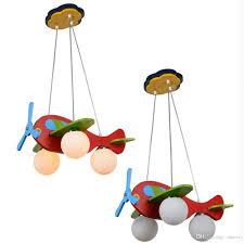 discount modern kid u0027s bedroom wooden airplane pendant lamp
