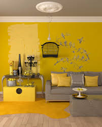 Living Room Ideas With Grey Sofas by Gorgeous Yellow Living Rooms Interior Wall Paint Color With Grey