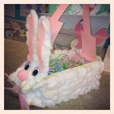 pre made easter baskets for kids easter basket milk bunny made one like this when i was a