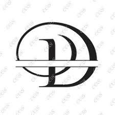 digital cut file split vine letters letter n n split n