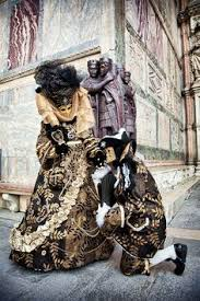 venetian jester costume black and white mask carnival of venice italy venice italy