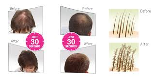 viviscal before and after hair length afro about volumising hair fibres