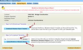 utilization report template prism vendor help system